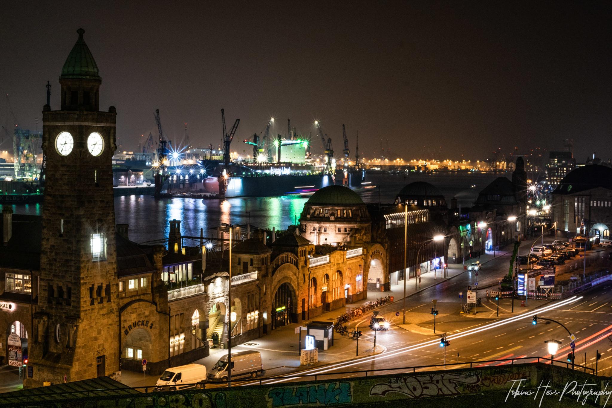 Landungsbrücken Hamburg Nachtfotografie